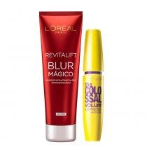 Kit Revitalift Blur LOréal Paris + The Colossal Volum Express Maybelline -