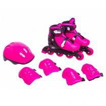 Kit rollers radical completo m (33-36) belfix 365200 rosa - Belfix