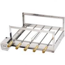 Kit Rotativo para Churrasqueira Inox 5 Espetos - Arke Gira Bem