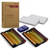 Kit S420 HiTi - 2 Papel e Ribbon S420 + 1 Carteirinha 3x4 -