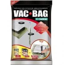 Kit Saco a Vacuo com 1 Médio + 2 Grande + Bomba - Vac Bag - Ordene