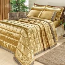Kit Safari Dourado King 09 Peças - Dourados enxovais