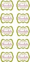 Kit Scrap Festa Rotulos Chocolate Floral KSF047 com 50 adesivos - Toke e Crie by Ivy Larrea Toke e Crie