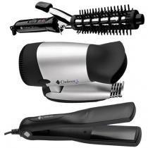 Kit Secador + Prancha + Modelador Cabelo Kit-500-Biv Cadence - Cadence