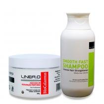 Kit shampoo alisante smooth fast + máscara bio calamus 250g - Nuv  ruche