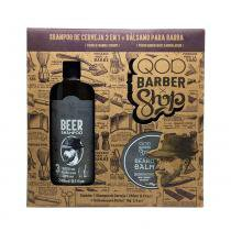 Kit Shampoo Beer  3 em 1 + Balm para Barba QOD - Qod barber shop