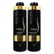 Kit Shampoo + Condicionador Força 10x1 Mandioca 1L - Seduction - Seduction professional