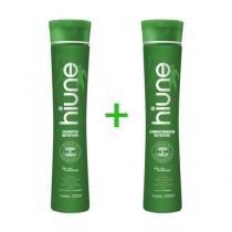 Kit Shampoo + Condicionador Hiune - Nutritivo Vegano - Cabelo Forte Livre da Queda -