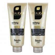Kit Shampoo e Condicionador Vitalcap Whey Hair 500ml - Belofio - BeloFio