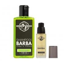 Kit Shampoo e Óleo para barba Citrus Woods Barba Brava - Barba Brava