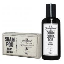 Kit Shampoo em Barra e Condicionador para Barba 140g - Beard Brasil -