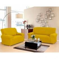 Kit sofa 2 e 3 lug malha gel golden - Sultan