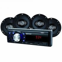 Kit som automotivo multilaser mp3 one quadriaxial + quatro alto falantes + tela led + entrada sd - au953 - Multilaser