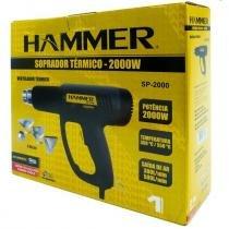 Kit soprador termico 2000w hammer goodyear com 4 bicos pistola de calor completa 220v -