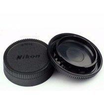 Kit Tampas Dslr Nikon Lente Objetiva Traseira E Corpo Ai Af - Oem