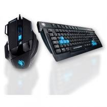 Kit Teclado e Mouse Gamer Black Hawk para PC - FORTREK - Fortrek