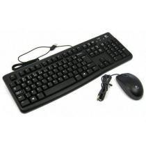 Kit Teclado e Mouse Logitech C/Fio MK120 USB Preto -