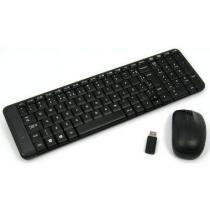 Kit Teclado e Mouse - Sem fio - Logitech Wireless Combo MK220 - Preto - 920-004431 -