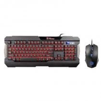 Kit Teclado e Mouse Thermaltake COMMANDER LED TRI-COLOR ABNT2 - KB-CCM-PLBLPB-01 - THERMALTAKE