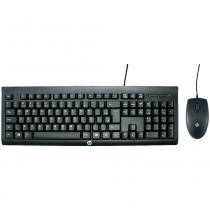Kit Teclado e Mouse USB HP C2500 Preto -