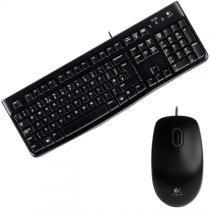 Kit Teclado E Mouse Usb Preto Mk120 Logitech -