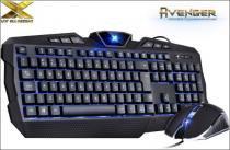 Kit Teclado e Mouse VX Gaming Avenger Vinik Retroiluminado - Vinik