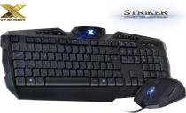 Kit Teclado e Mouse VX Gaming Striker Vinik Azul - Vinik