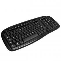Kit Teclado e Mouse Wireless 2.4Ghz Preto K-W101BK - C3 Tech - C3 Tech