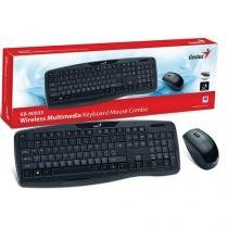 Kit teclado e mouse wireless genius 31340005113 kb-8000x usb  2.4 ghz preto 1200dpi -