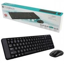 Kit Teclado e Mouse Wireless Logitech MK220 -