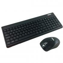 Kit Teclado e Mouse Wireless USB Preto KA-0328/MA-P433 - K-Mex - K-Mex