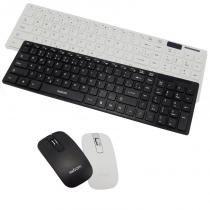 Kit Teclado + Mouse Sem Fio Wireless Usb Exbom BK-S1000 com Capa de Silicone -