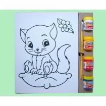 Kit Tela P Gatinha - 6 Peças - Embalagem Presente - Kits for kids