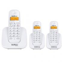 Kit Telefone Sem Fio Ts 3110 + 2 Ramais Ts 3111 Branco Intelbras -