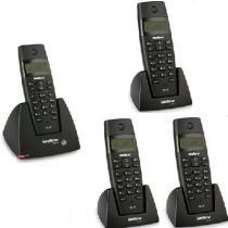 Kit Telefone Sem Fio TS 40 ID + 3 Ramais TS 40 R Intelbras -