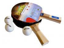 Kit Tênis de Mesa com Raquete e Bola 5 Peças - Klopf 35055