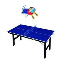 c2e1f371e5354 Kit Tênis De Mesa Dobrável Mdp com Rede e Raquetes Ping Pong 1003 - Klopf -