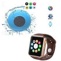 Kit Top Relógio Inteligente A1 Smart-Android-Chip + Caixa Som Bluetooth Prova D'agua -