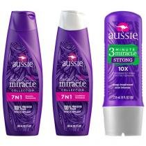Kit Tratamento Aussie Strong 3 Minutes Miracle - 236ml com Shampoo 7 em 1 360ml + Condicionador