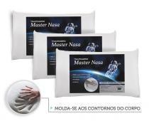 Kit Travesseiro Nasa 3 Pecas - Antialergico - Toque Macio - Master comfort