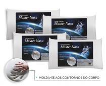 Kit Travesseiro Nasa 4 Pecas - Antialergico - Toque Macio - Master Comfort
