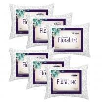 Kit Travesseiros Floral 140 Fios 06 Peças Estampado - Ortobom -
