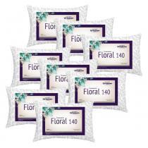 Kit Travesseiros Floral 140 Fios 08 Peças Estampado - Ortobom -