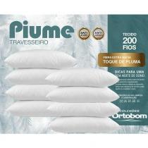 Kit Travesseiros Piume 08 Pçs c/ Toque de Pluma 100 Alg. 200 Fios - Ortobom -