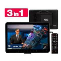 Kit tv full hd portatil 17 polegadas com dvd integrado monitor mini com hdmi usb controle remoto usb - Knup