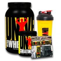 Kit Ultra Whey Pro Double Chocolate 907g + Creatina 200g + Coqueteleira + 3 saches Universal Nutrition - Universal Nutrition