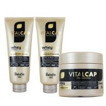Kit Vitalcap Whey Hair 500ml - Belofio - BeloFio