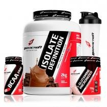ba5103756 Kit Whey Isolado 2kg + Bcaa + Glutamina - Body Action -