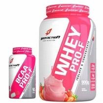 Kit Whey Pro-F 900g Morango + BCAA Pro-F 90 Cápsulas - BodyAction - Body nutry