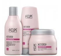 Kit XColor Felps Profissional Shampoo 300ml, Condicionador 200ml e Máscara 250g - Felps